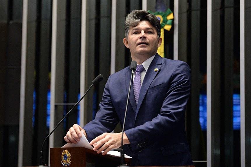 Plenário do Senado Federal durante sessão deliberativa ordinária.   Em discurso, senador José Medeiros (PSD-MT).   Foto: Jefferson Rudy/Agência Senado