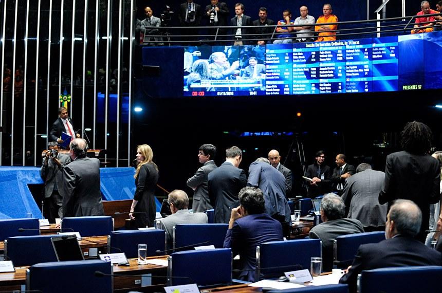 Plenário do Senado durante sessão deliberativa ordinária.  Em pronunciamento,  senador Aloysio Nunes Ferreira (PSDB-SP).  Foto: Jonas Pereira/Agência Senado