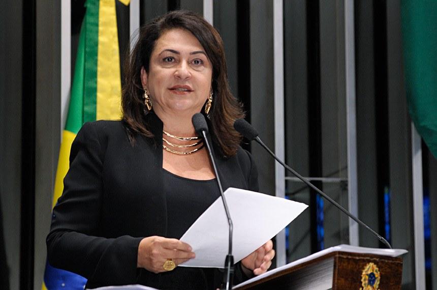 Plenário do Senado Federal durante sessão deliberativa extraordinária.   Em discurso,  Senadora Kátia Abreu - PMDB/TO   Foto: Waldemir Barreto/Agência Senado