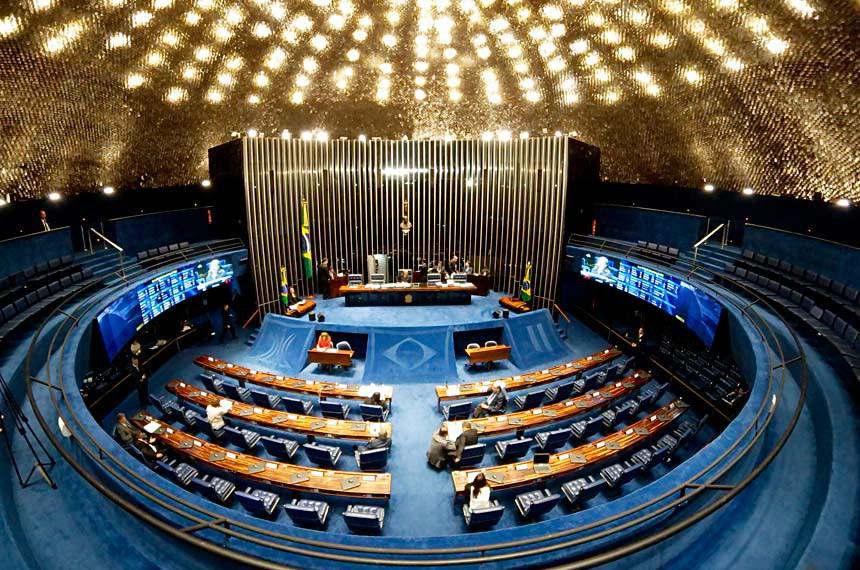 Plenário do Senado Federal durante sessão deliberativa extraordinária.   Geral do Plenário.   Foto: Roque de Sá/Agência Senado