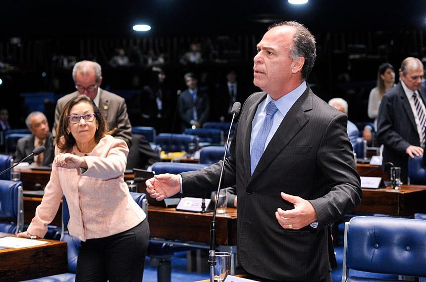 Plenário do Senado Federal durante sessão deliberativa extraordinária.  Em pronunciamento,  senador Fernando Bezerra Coelho (PSB-PE).  Foto: Waldemir Barreto/Agência Senado