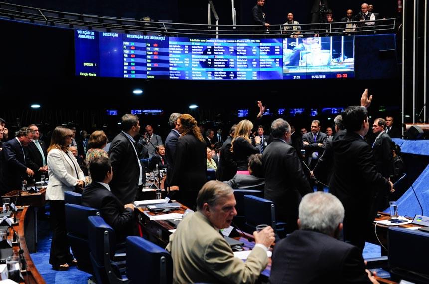 Plenário do Senado durante sessão deliberativa extraordinária.Foto: Jonas Pereira/Agência Senado