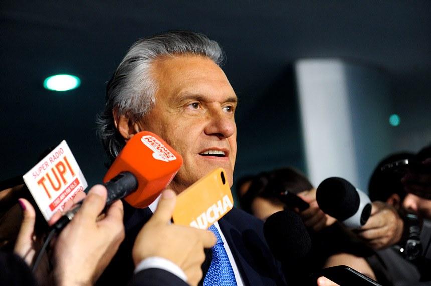 Senador Ronaldo Caiado (DEM-GO) concede entrevista.  Foto: Jonas Pereira/Agência Senado