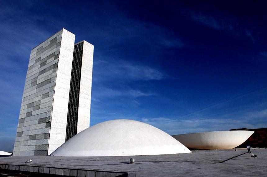 20/06/12 | Prédio do Congresso Nacional visto pelo lado do Senado Federal. Foto: André Corrêa / Liderança do PT no Senado.  Foto da fachada do prédio do Congresso Nacional.