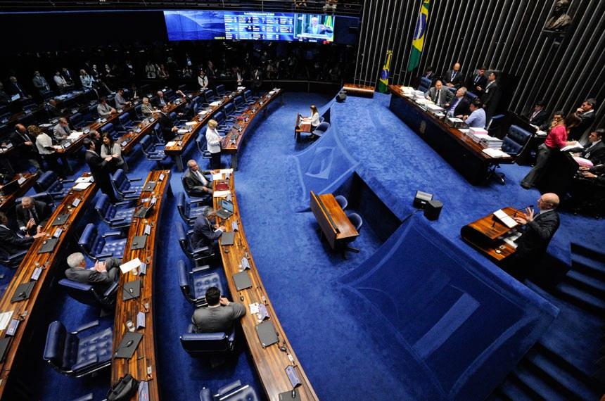 Plenário do Senado Federal durante sessão deliberativa extraordinária.   À mesa, o presidente do Senado Federal, senador Renan Calheiros (PMDB-AL), conduz sessão.   Foto: Edilson Rodrigues/Agência Senado