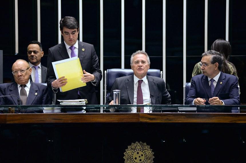 Plenário do Senado Federal durante sessão deliberativa extraordinária.   Foto:  Jefferson Rudy/Agência Senado