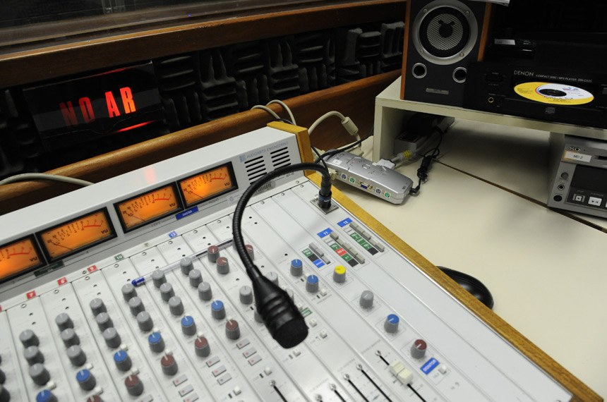 Estúdio da Rádio Senado.