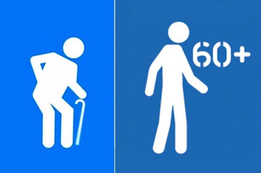 A atual imagem, considerada depreciativa, poderá ser substituída pela nova, à direita