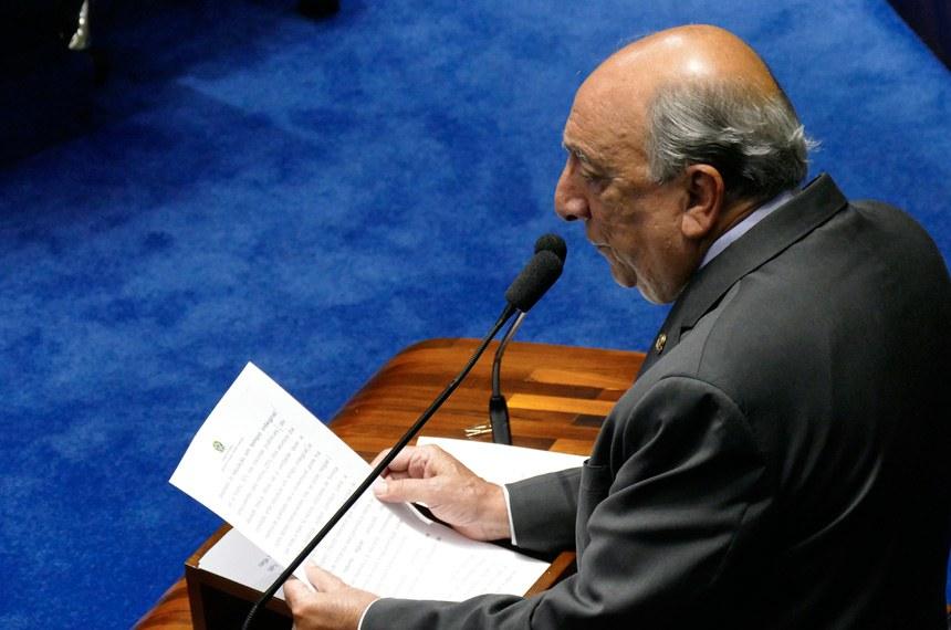 Plenário do Senado Federal durante sessão deliberativa ordinária.   Em discurso, senador Pedro Chaves (PSC-MS).  Foto: Roque de Sá/Agência Senado