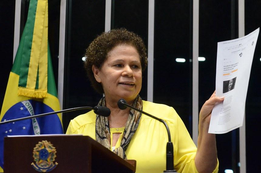 Plenário do Senado durante sessão deliberativa ordinária.  Em discurso, à tribuna, senadora Regina Sousa (PT-PI).  Foto: Ana Volpe/Agência Senado