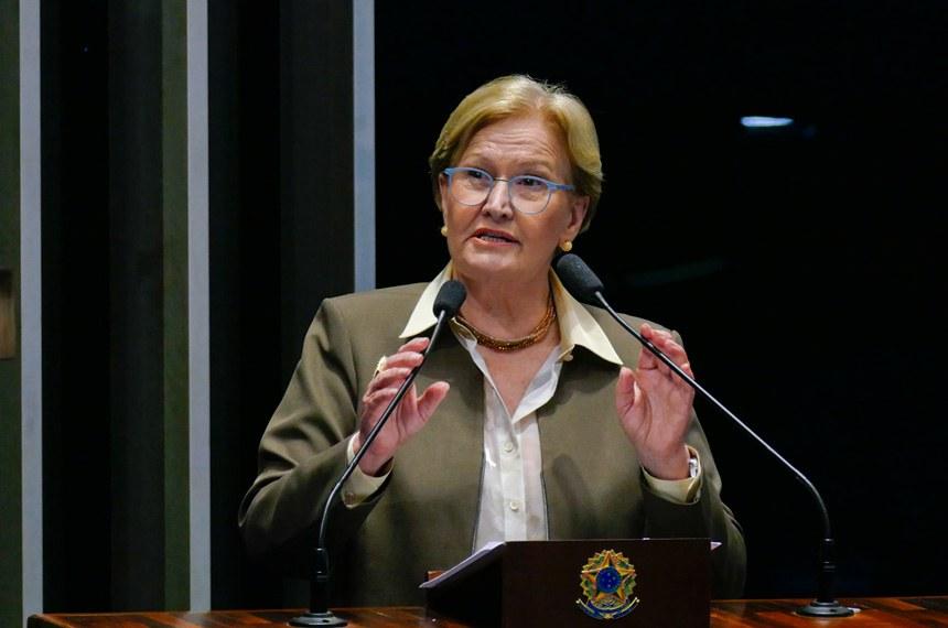 Plenário do Senado Federal durante sessão deliberativa ordinária.   Em discurso, senadora Ana Amélia (PP-RS).  Foto: Roque de Sá/Agência Senado
