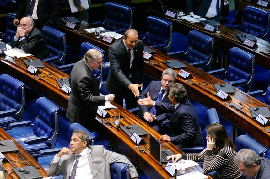 Plenário do Senado Federal durante sessão deliberativa ordinária.   Bancada: senador Antonio Anastasia (PSDB-MG);  senador Ataídes Oliveira (PSDB-TO);  senador Aécio Neves (PSDB-MG);  senador Flexa Ribeiro (PSDB-PA);  senador Hélio José (PMDB-DF); senador Tasso Jereissati (PSDB-CE);  Foto: Roque de Sá/Agência Senado