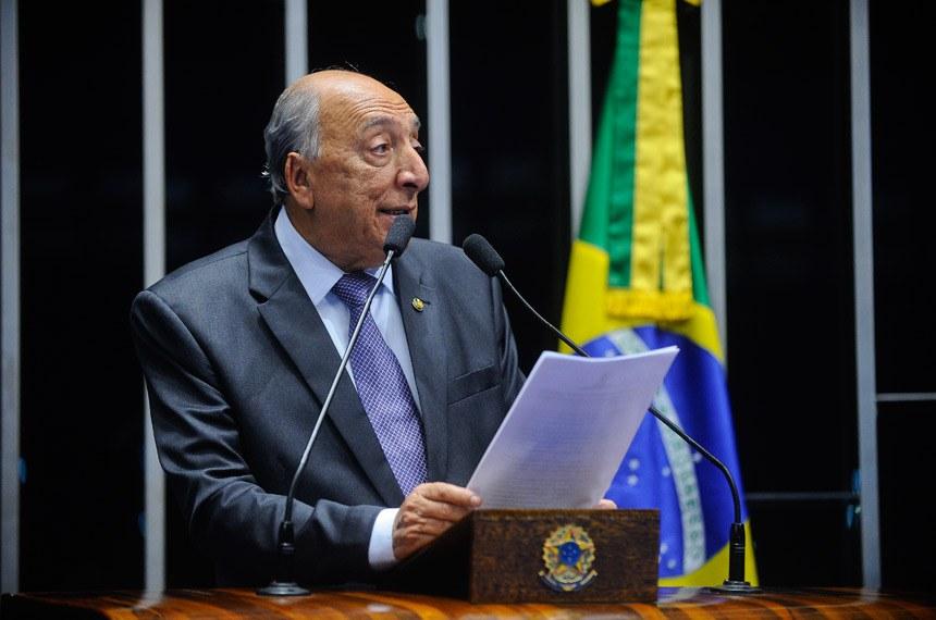 Plenário do Senado durante sessão deliberativa extraordinária.  Em discurso, à tribuna, senador Pedro Chaves (PSC-MS).  Foto:Marcos Oliveira/Agência Senado