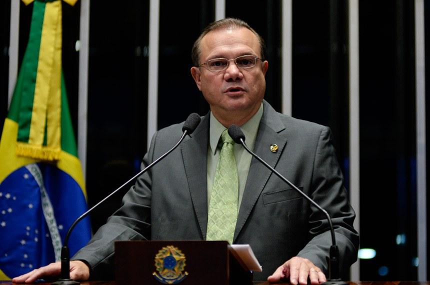 Plenário do Senado durante sessão não deliberativa.  Em discurso, senador Wellington Fagundes (PR-MT).  Foto: Jefferson Rudy/Agência Senado