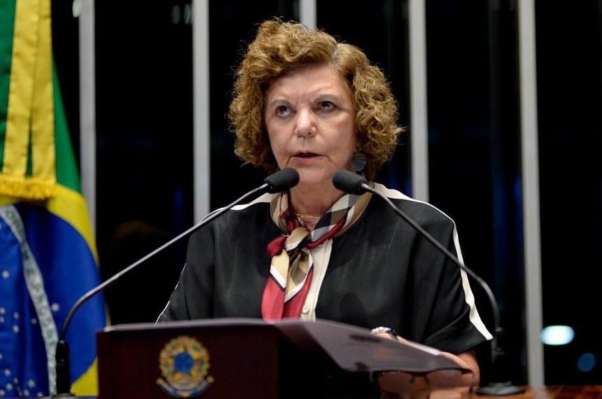 Plenário do Senado durante sessão deliberativa ordinária.  Em discurso, senadora Lúcia Vânia (PSB-GO).   Foto: Jefferson Rudy/Agência Senado