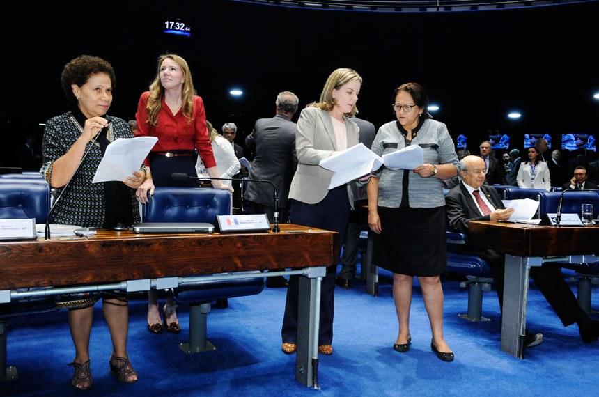 Plenário do Senado Federal durante sessão deliberativa ordinária. *Ordem do dia.   Em pronunciamento, senadora Regina Sousa (PT-PI).   Foto: Waldemir Barreto/Agência Senado