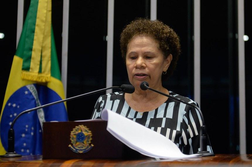 Plenário do Senado durante sessão deliberativa ordinária.  Em discurso, senadora Regina Sousa (PT-PI).   Foto: Ana Volpe/Agência Senado