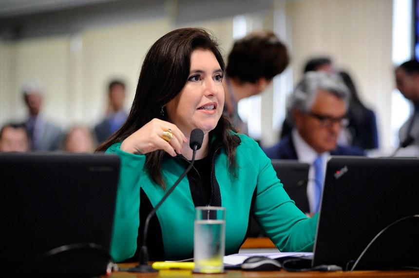 A senadora Simone Tebet foi relatora do projeto