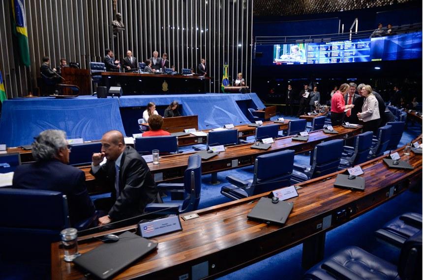 Plenário do Senado durante sessão deliberativa ordinária.  Mesa: presidente do Senado Federal senador Eunício Oliveira (PMDB-CE);  senador Renan Calheiros (PMDB-AL).  Foto: Jefferson Rudy/Agência Senado