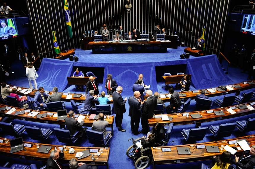 Plenário do Senado durante sessão deliberativa ordinária.  Geral do plenário.  Foto: Marcos Oliveira/Agência Senado