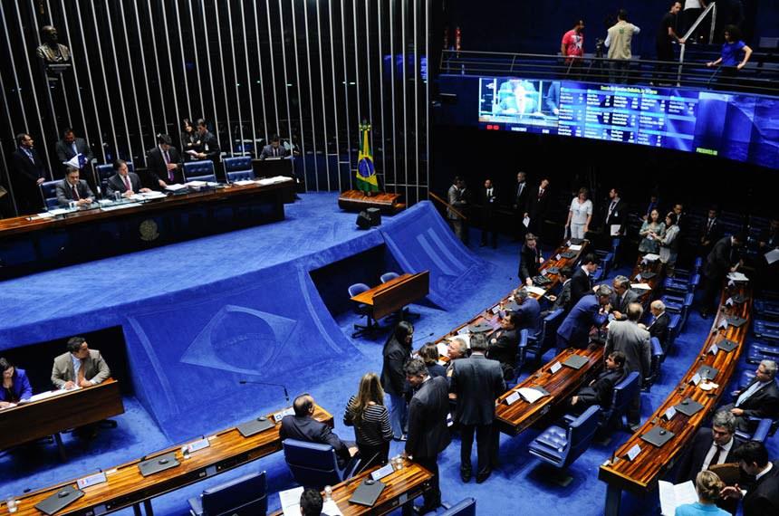 Geral do Plenário do Senado durante sessão deliberativa ordinária.    Foto: Marcos Oliveira/Agência Senado