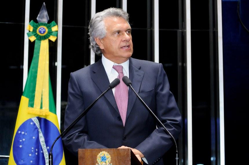 Plenário do Senado Federal durante sessão deliberativa ordinária.   Em discurso, senador Ronaldo Caiado (DEM-GO).   Foto: Waldemir Barreto/Agência Senado