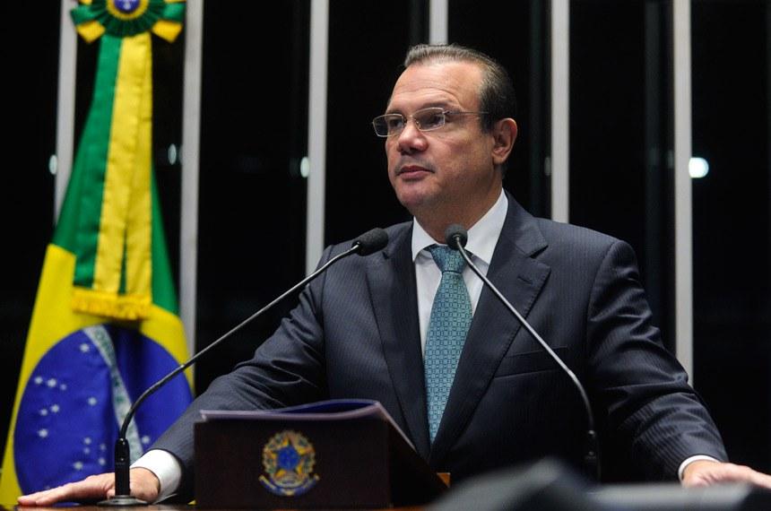 Plenário do Senado durante sessão deliberativa ordinária.  Em discurso, senador Wellington Fagundes (PR-MT).  Foto: Moreira Mariz/Agência Senado