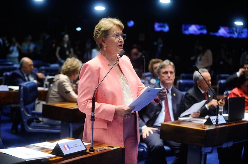 Plenário do Senado durante sessão deliberativa ordinária.   Em pronunciamento, senadora Ana Amélia (PP-RS).   Foto: Moreira Mariz/Agência Senado