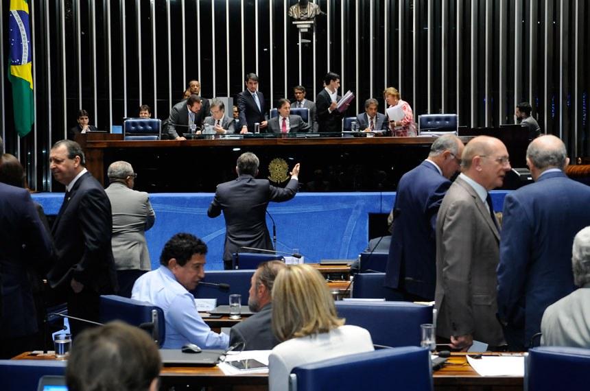 Plenário do Senado Federal durante sessão deliberativa ordinária.  À mesa, presidente do Senado Federal senador Eunício Oliveira (PMDB-CE).  Foto: Waldemir Barreto/Agência Senado