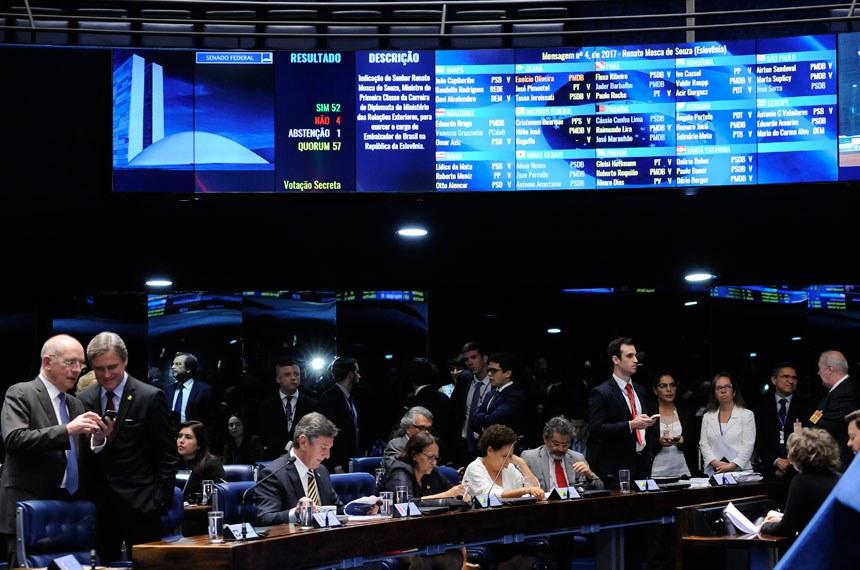 Geral do Plenário do Senado durante sessão deliberativa ordinária.    Foto: Waldemir Barreto/Agência Senado