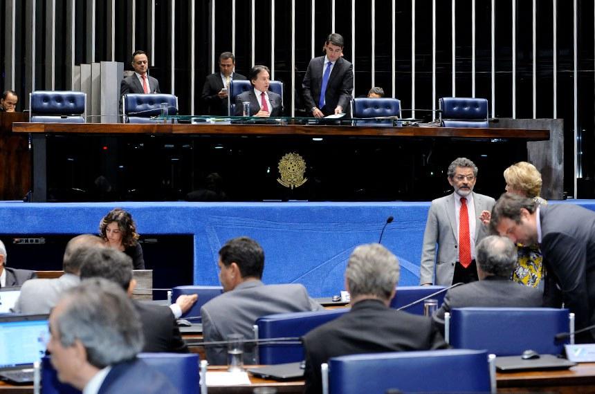 Plenário do Senado durante sessão deliberativa ordinária. À mesa, presidente do Senado, senador Eunício Oliveira (PMDB-CE).Foto: Waldemir Barreto/Agência Senado