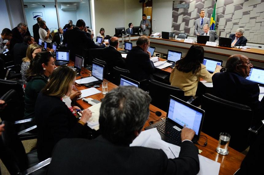 Reunião da Comissão de Assuntos Econômicos (CAE) desta terça-feira (25) em que o projeto foi aprovado