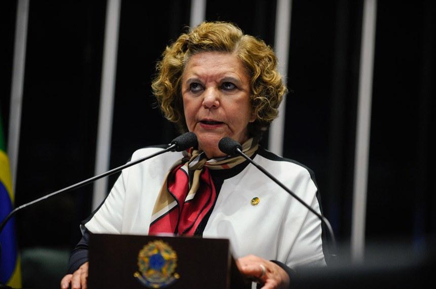 Plenário do Senado durante sessão deliberativa ordinária.  Em discurso, senadora Lúcia Vânia (PSB-GO).  Foto: Moreira Mariz/Agência Senado
