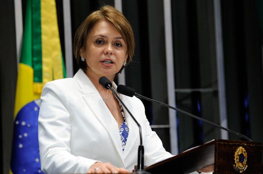Plenário do Senado durante sessão não deliberativa.  Em discurso,  senadora Ângela Portela (PT-RR).  Foto: Waldemir Barreto/Agência Senado
