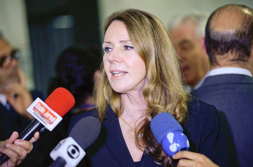 Senadora Vanessa Grazziotin (PCdoB-AM) concede entrevista.   Foto: Jefferson Rudy/Agência Senado