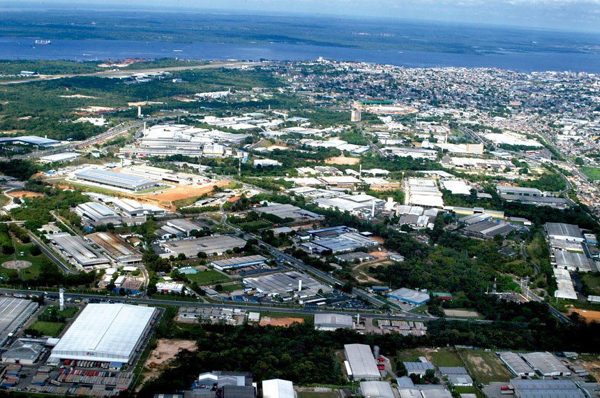 Imagem aérea do Distrito Industrial de Manaus