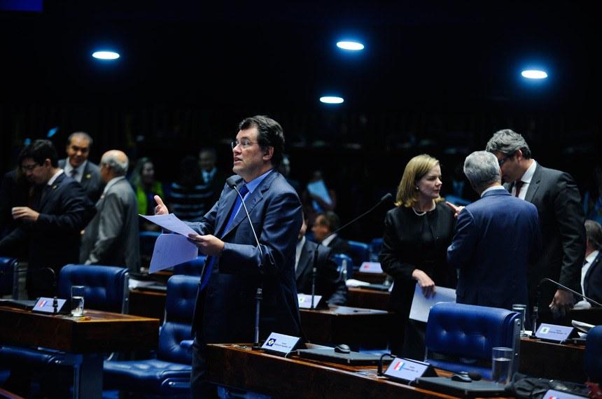 Plenário do Senado durante sessão deliberativa ordinária. Ordem do dia.  Em pronunciamento, senador Eduardo Braga (PMDB-AM).   Foto: Moreira Mariz/Agência Senado
