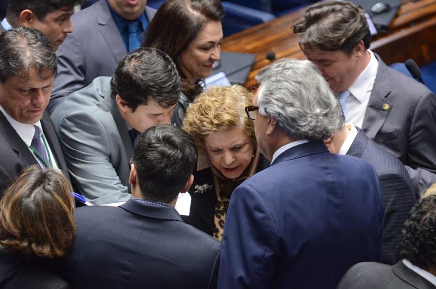 Plenário do Senado durante sessão deliberativa ordinária.*Ordem do dia  Senadores acompanham a sessão.  Foto: Ana Volpe/Agência Senado