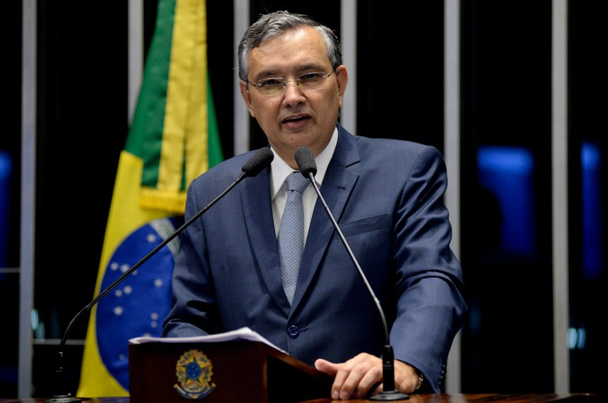 Plenário do Senado Federal durante sessão deliberativa ordinária.   Em discurso, senador Eduardo Amorim (PSDB-SE).   Foto: Jefferson Rudy/Agência Senado