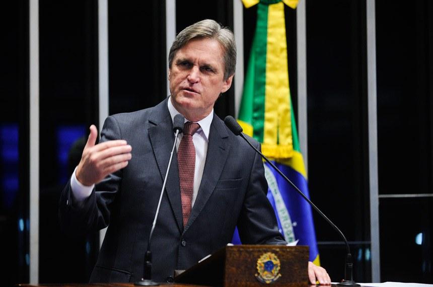 Plenário do Senado durante sessão não deliberativa.  Em discurso, senador Dário Berger (PMDB-SC).  Foto: Marcos Oliveira/Agência Senado