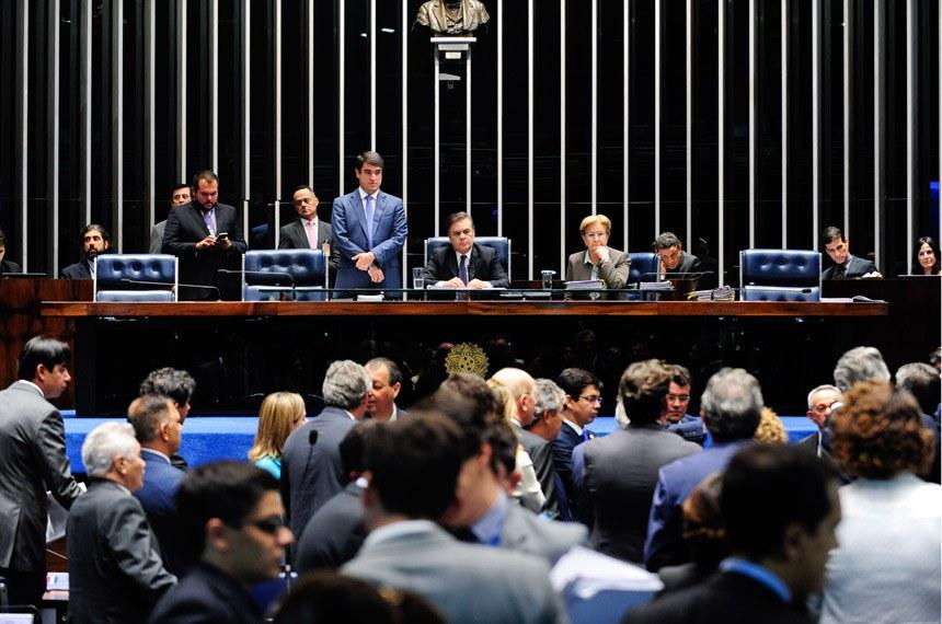 Plenário do Senado durante sessão deliberativa ordinária. *Ordem do dia  À mesa: senador Cássio Cunha Lima (PSDB-PB); senadora Ana Amélia (PP-RS).  Foto: Jonas Pereira/Agência Senado