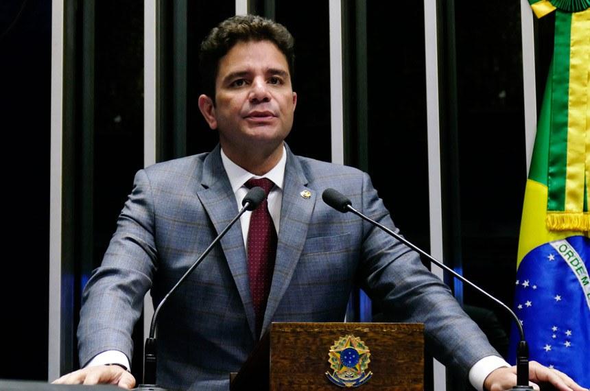 Plenário do Senado Federal durante sessão deliberativa ordinária.   Em discurso, senador Gladson Cameli (PP-AC).  Foto: Roque de Sá/Agência Senado