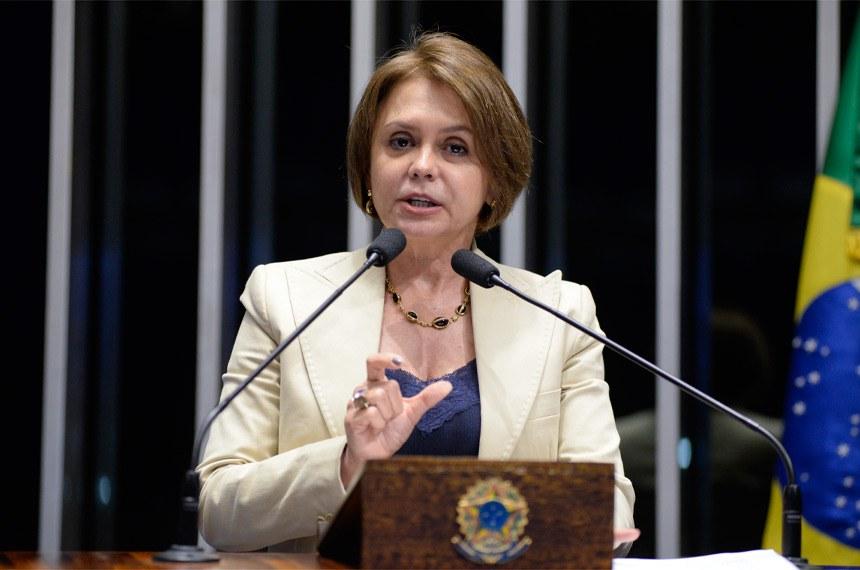 Plenário do Senado durante sessão deliberativa ordinária.  Em discurso, senadora Ângela Portela (PDT-RR).  Foto: Jefferson Rudy/Agência Senado