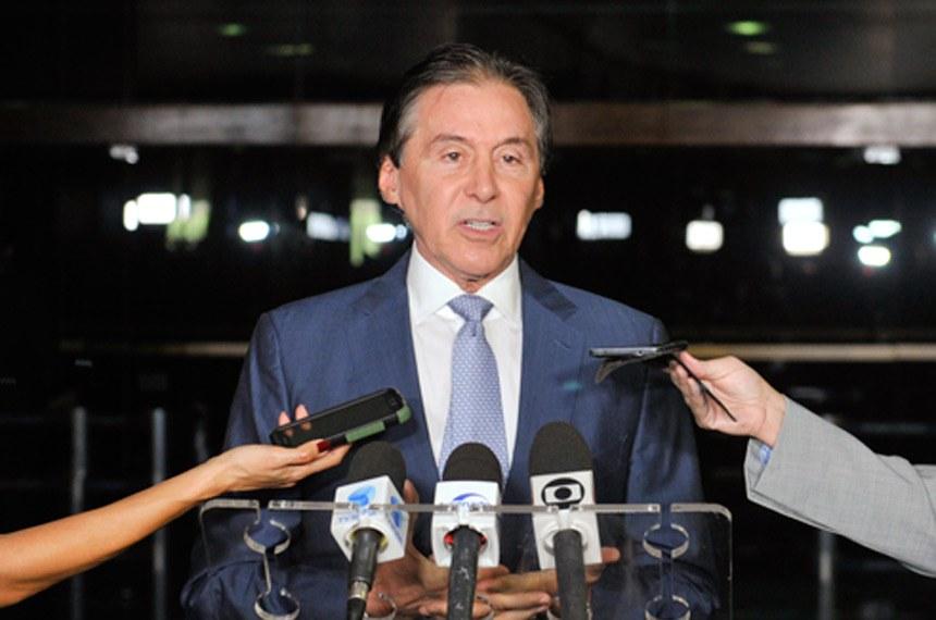 Presidente do Senado Federal, senador Eunício Oliveira (PMDB-CE) concede entrevista.    Foto: Marcos Brandão/Agência Senado