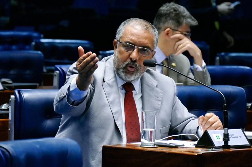 Plenário do Senado Federal durante sessão não deliberativa.   Em pronunciamento,  senador Paulo Paim (PT-RS).  Foto: Roque de Sá/Agência Senado