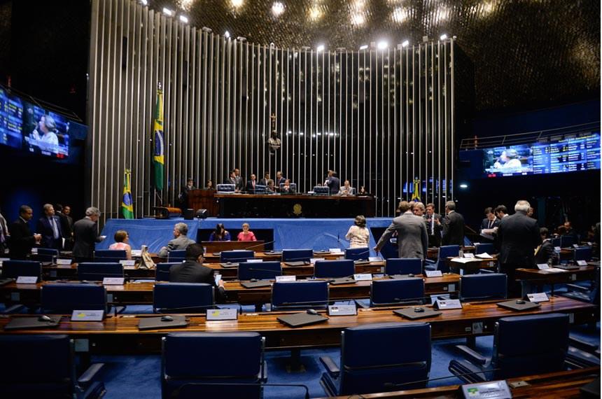 Plenário do Senado durante sessão deliberativa ordinária. Ordem do dia.  Mesa:  senador Paulo Rocha (PT-PA) presidente do Senado Federal, senador Eunício Oliveira (PMDB-CE).   Foto: Jefferson Rudy/Agência Senado