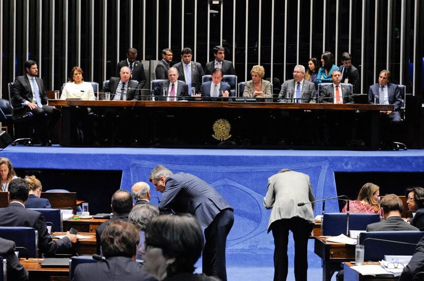 Plenário do Senado Federal durante sessão de debates temáticos destinada a discutir o Projeto de Lei da Câmara nº 38, de 2017, que regulamenta a Reforma Trabalhista.   Foto:  Edilson Rodrigues/Agência Senado