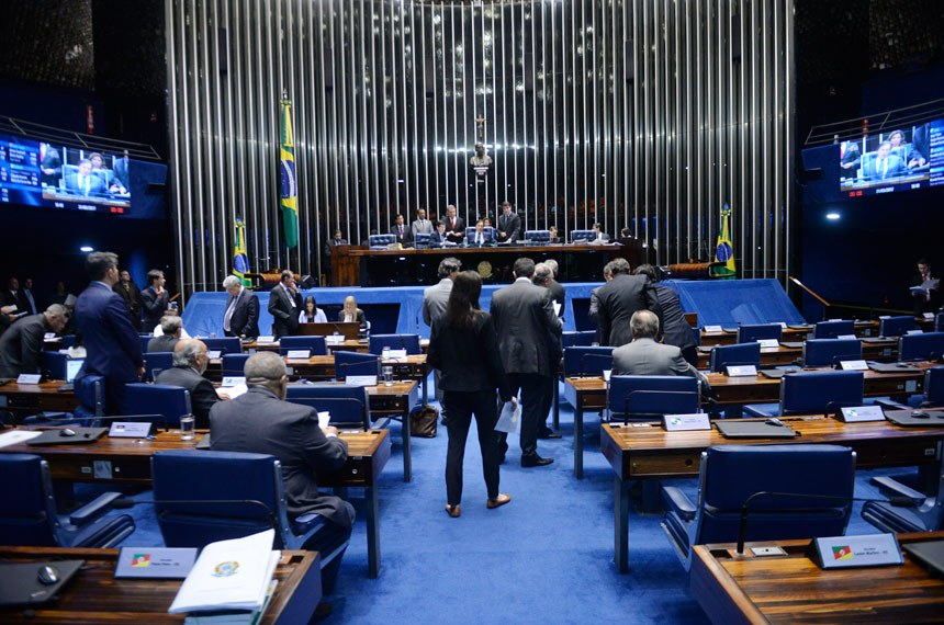 Plenário do Senado durante sessão deliberativa ordinária.  Foto: Jefferson Rudy/Agência Senado