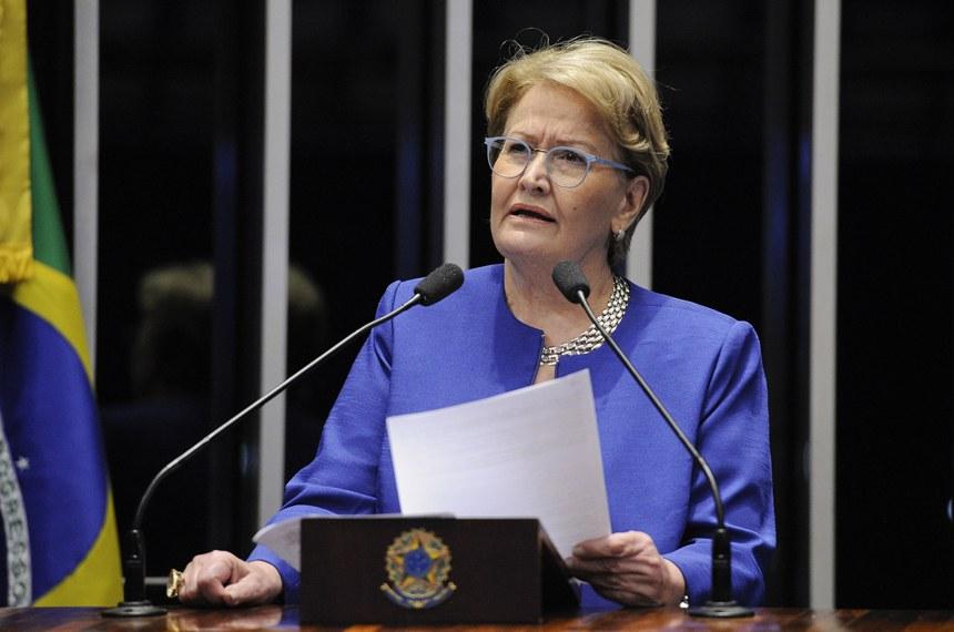 Plenário do Senado Federal durante sessão deliberativa extraordinária.   Em discurso, senadora Ana Amélia (PP-RS).   Foto: Edilson Rodrigues/Agência Senado