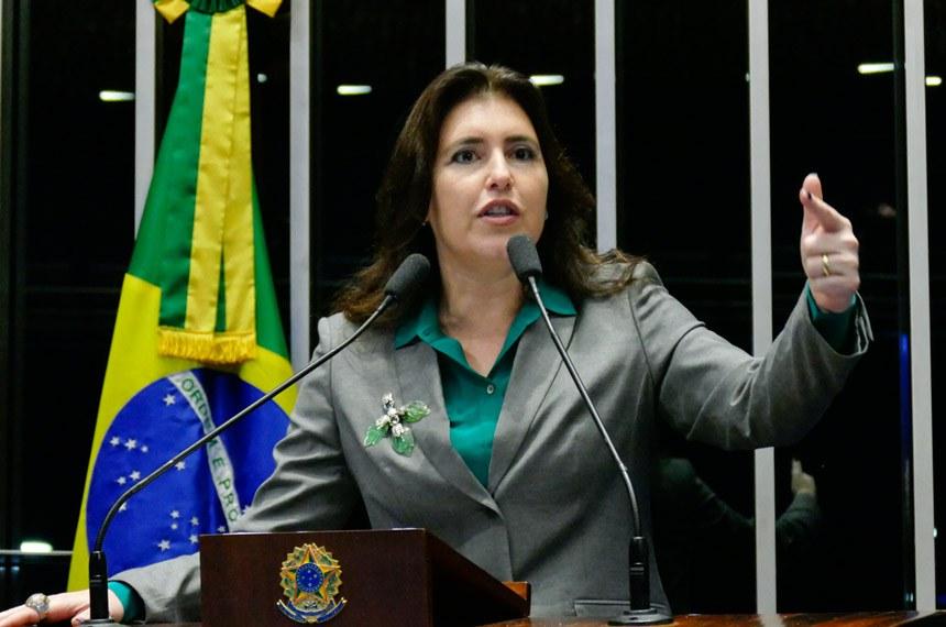 A senadora Simone Tebet (PMDB-MS) foi relatora da matéria